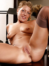 tight pussy, Popular MILF Sara C spreads her legs revealing edible tight pussy